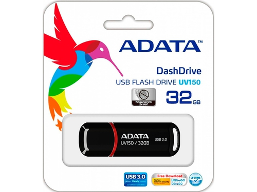 Pendrive ADATA UV150 32GB USB 3.0 AUV150-32G-RBK