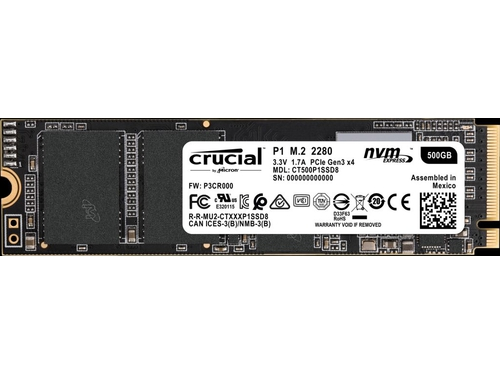 Dysk SSD Crucial P1 500GB M.2 PCIe x4 NVMe - CT500P1SSD8