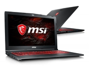 "Laptop gamingowy MSI GV62 7RC−047XPL Core i7-7700HQ 15,6"" 8GB HDD 1TB GeForce MX150 NoOS"