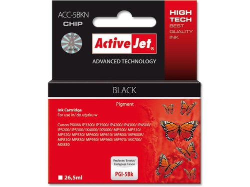 ActiveJet Tusz Canon PGI-5BK With Chip.. - ACC-5BN