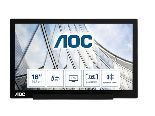 "MONITOR AOC LED 15,6"" I1601FWUX"