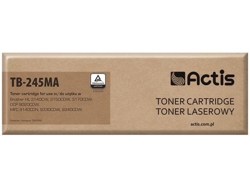 Toner Actis TB-245MA do drukarki Brother, Zamiennik Brother TN-245M; Standard; 2200 stron; purpurowy.