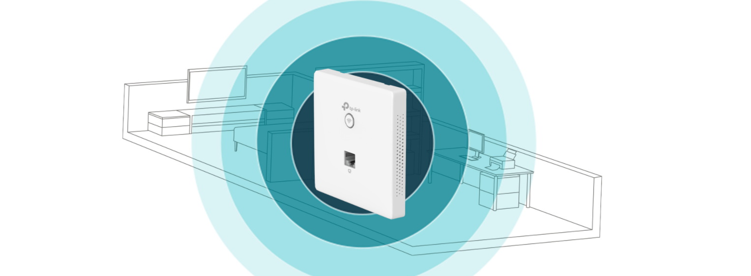 #TP-Link EAP115-Wall Wireless 802.11n/300Mbps AccessPoint PoE Wall-Plate