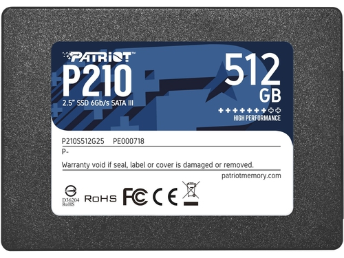 SSD Patriot P210 512GB SATA3 2.5 - P210S512G25
