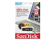 Pendrive SanDisk Ultra Flair 64GB USB 3.0 SDCZ73-064G-G46