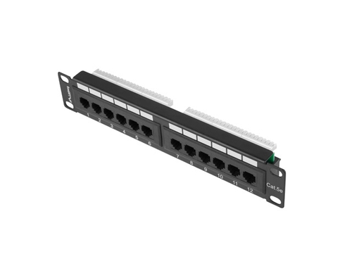 "LANBERG PATCH PANEL 10"" (12 PORT, 1U, KAT.5E UTP) - PPU5-9012-B"