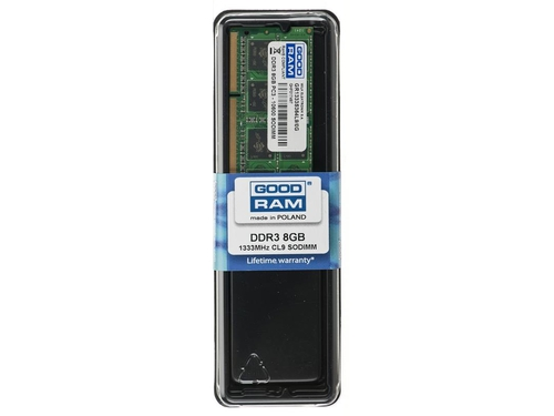 Pamięć Goodram SO-DIMM DDR3 8192MB PC1333 CL9 - GR1333S364L9/8G