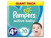 Pampers pieluchy Active Maxi Plus 4 9-16 kg 70szt