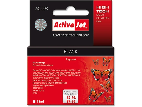 Activejet tusz Canon BC/BX-20 Bk ref. - AC-20R (ACX-20)