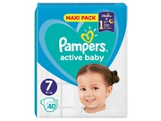 Pampers pieluchy ABD Maxi Pack size 7 40szt