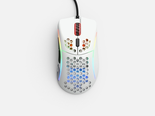 GLORIOUS MYSZ PC RACE MODEL D- GAMING WHITE MATOWA - GLO-MS-DM-MW