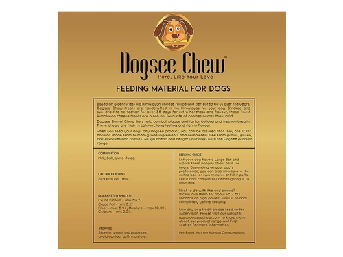 Dogsee Chew Large Bars 130g