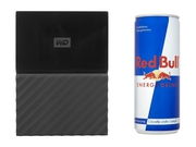 "HDD WD MY PASSPORT 1TB 2.5"" USB 3.0 + RED BULL Czarny - WDBYNN0010BBK-WESN"
