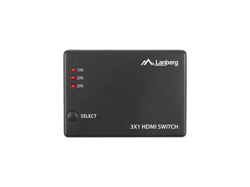 LANBERG SWITCH VIDEO 3X HDMI + PORT MICRO USB - SWV-HDMI-0003