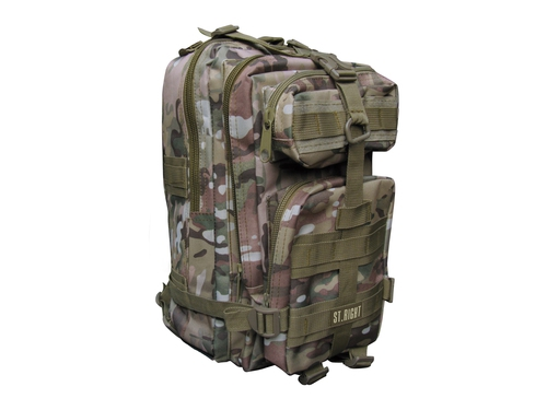 Plecak 3-komorowy St.Right Military Multi Camo + Chusta St.Right - 5903235619533