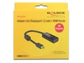 DELOCK ADAPTER DP MINI (M) V1.2 -> HDMI (F) 4K - 62613