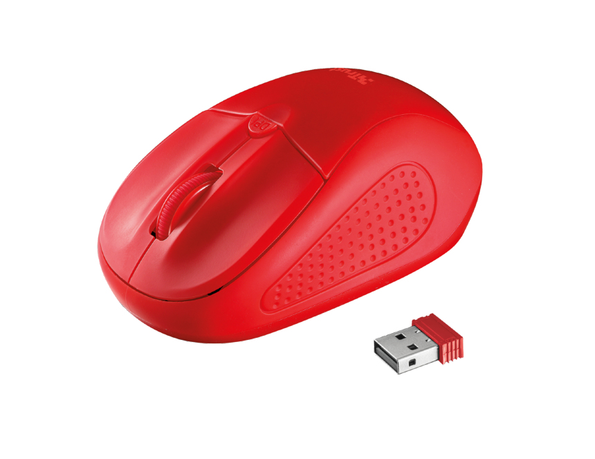 #MYSZ TRUST Primo Wireless Mouse - Red
