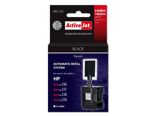 ActiveJet Automatic Refill System HP 336/337/338/350 Bk 3x6ml ARS-350