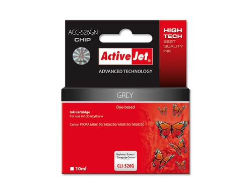 Activejet tusz do Canon CLI-526GN (W/ CHIP) ACC-526GN