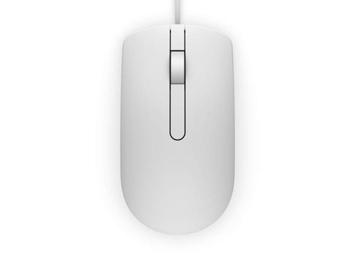 Dell MS116 Wired Optical Mouse White - 570-AAIP