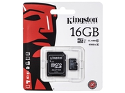 Karta pamięci z adapterem MicroSDHC Kingston 16GB Class 10 SDC10G2/16GB