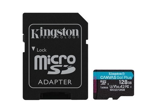 KINGSTON microSDXC Canvas Go Plus 128GB + adapter - SDCG3/128GB