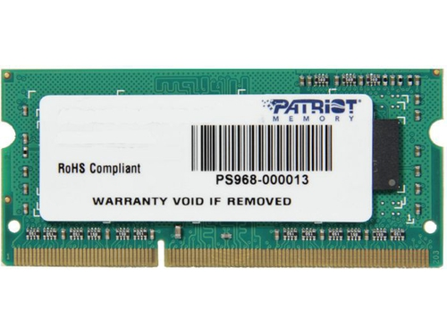 Patriot 4GB 1333MHz DDR3 Non-ECC CL9 SODIMM - PSD34G133381S