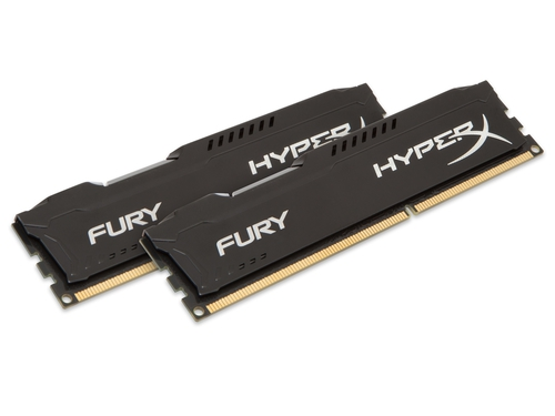 Pamięć RAM Kingston HyperX FURY DDR3 1600 MHz 8GB CL10 (Kit of 2) Czarny - HX316C10FBK2/8