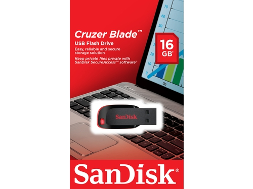 Pendrive Sandisk Flash Cruzer Blade 16GB - SDCZ50-016G-B35
