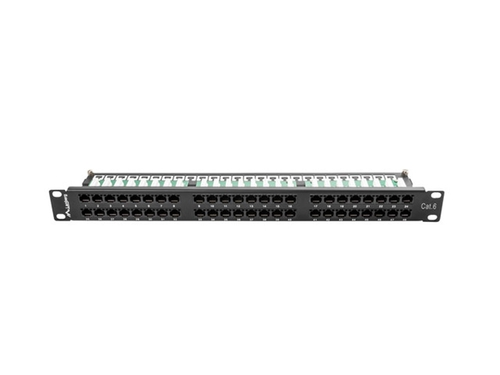 LANBERG PATCH PANEL 48 PORT 1U KAT.6 UTP CZARNY - PPU6-1048-B