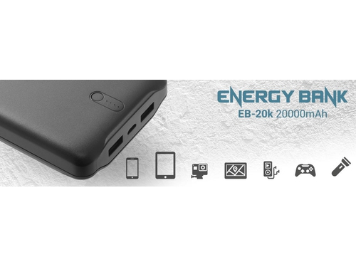 EVERACTIVE POWERBANK 20000 MAH, LI-POLY EB-20K - EB-20k