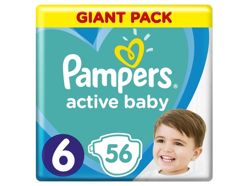 Pampers pieluchy Active baby Extra Large 6 56szt