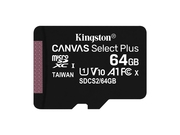 KINGSTON microSDXC 64GB Canvas Select Plus 100R - SDCS2/64GBSP