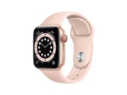 Apple Watch Series 6 GPS + Cellular, 40mm Gold Aluminium Case with Pink Sand Sport Band - Regular - M06N3WB/A
