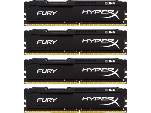 Kingston HyperX FURY 4x16GB 2133MHz DDR4 CL14 DIMM, czarna - HX421C14FBK4/64