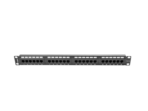 Lanberg patch panel 24 port 1u kat.5e utp black ppu5-1024-b - PPU5-1024-B
