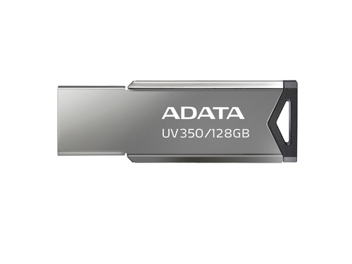 ADATA FLASHDRIVE UV350 128GB USB3.1 Metallic - AUV350-128G-RBK