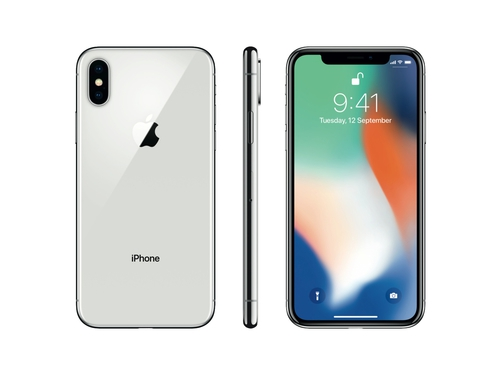 Smartfon Apple iPhone X 256GB Silver LTE Bluetooth WiFi GPS NFC 256GB iOS 11 kolor srebrny