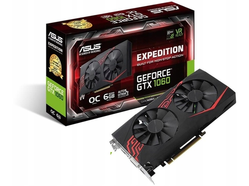 Karty graficzna Asus GeForce GTX1060 GeForce GTX1060 OC EX-GTX1060-O6G 6GB GDDR5 8008 MHz 192-bit