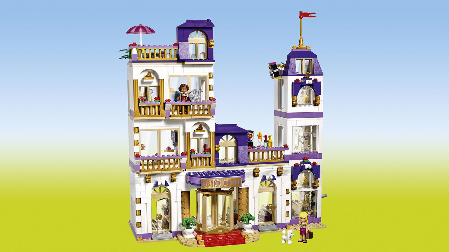 Lego friends grand hotel w heartlake 41101 cena opinie for Olivia s garden pool instructions