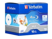 Verbatim BluRay BD-R [ jewel case 10 | 25GB | 6x | PRINTABLE SURFACE HARD COAT ] - 43713