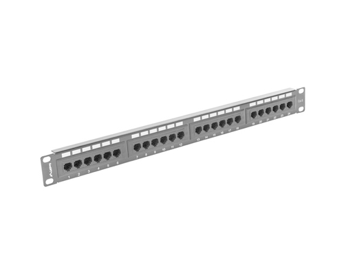 LANBERG PATCH PANEL 24 PORT 1U KAT.6 UTP CZARNY - PPU6-1024-B