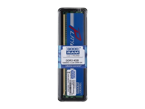 Pamięć RAM Goodram DDR3 Play 4096MB PC1866 Blue CL9 512x8 - GYB1866D364L9AS/4G
