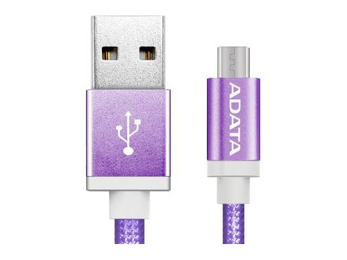 ADATA kabel USB type-A , charge and sync data on Android, fioletowy - AMUCAL-100CMK-CPU