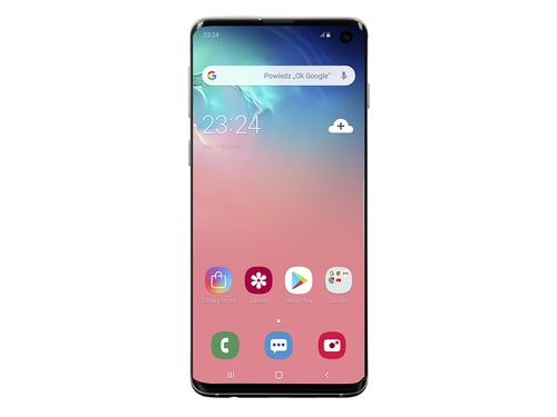 Smartfon Samsung Galaxy S10 128GB Prism White SM-G973F/DS Bluetooth WiFi NFC GPS LTE Galileo DualSIM 128GB Android 9.0 Prism White