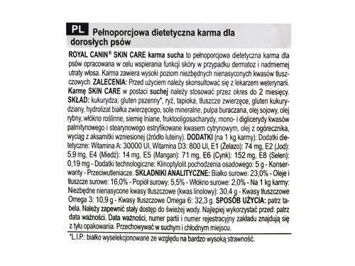 Royal Canin Skin Care Adult Canine 11kg