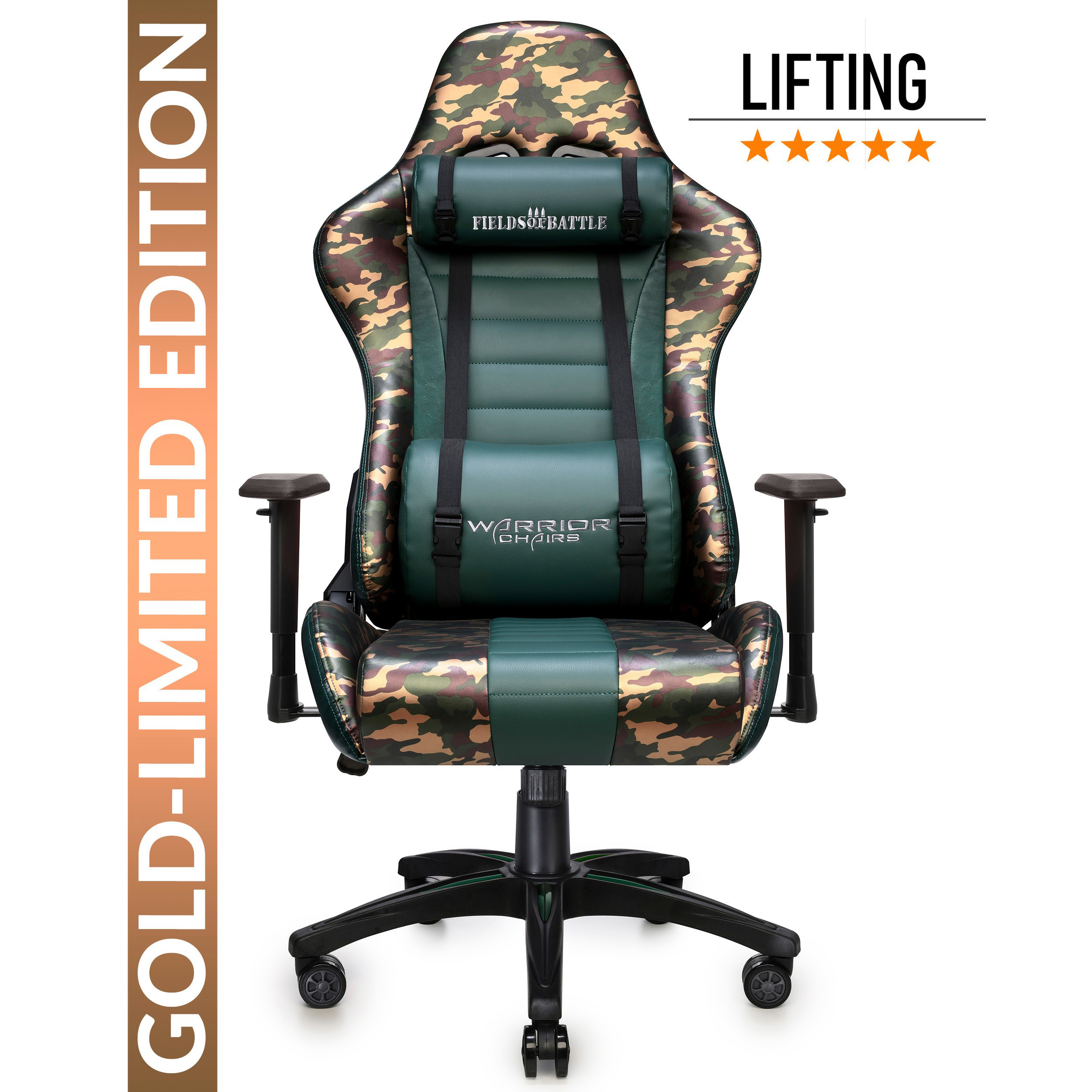 #Warrior Chairs fotel FOB Forest Gold Limited edt