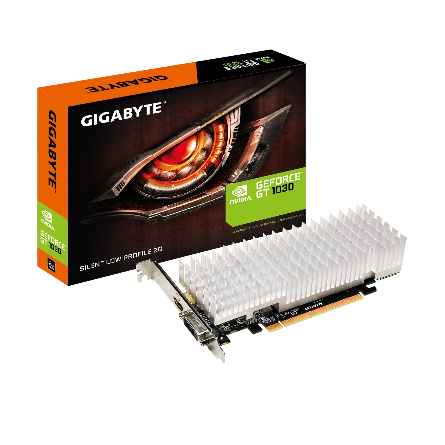 #Karta graficzna Gigabyte GeForce® GT 1030 Silent Low Profile 2G, 2GB, DVI/HDMI