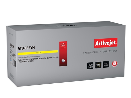 Toner Activejet ATB-325YN do drukarki Brother, Zamiennik Brother TN-325Y; Supreme; 3500 stron; żółty.