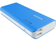 ADATA PT100 Power Bank 10000mAh, white - APT100-10000M-5V-CBLWH